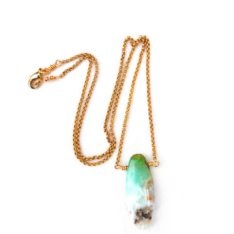 chrysoprase pendant necklace