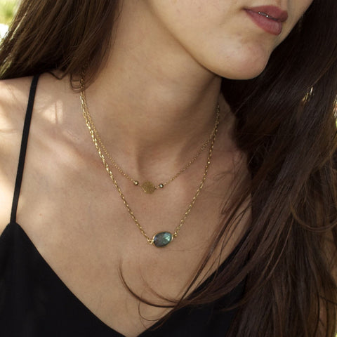 labradorite boho style necklaces for women