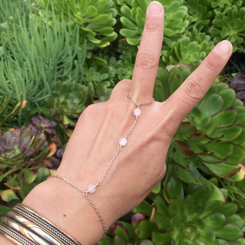 Rose Quartz Hand Chain