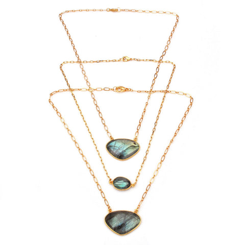 labradorite gemstone necklaces