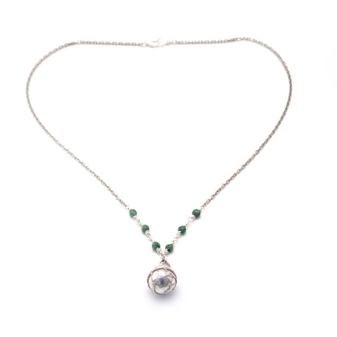 silver turquoise necklace for women
