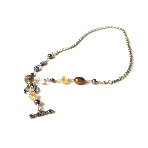 boho chic style boho freshwater pearls necklace