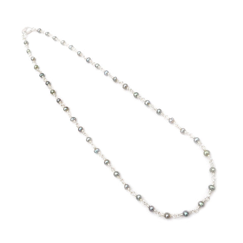 boho chic pearl necklace