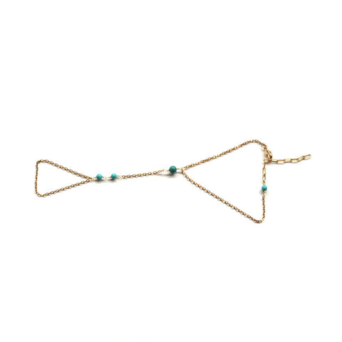 turquoise gold slave bracelet for women