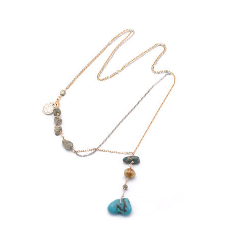Turquoise and Pyrite Freedom