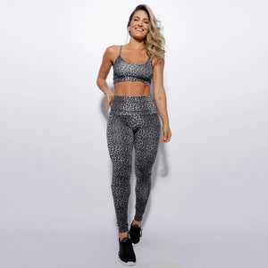 Animal Print High Waist Fitness Set - Vivaz Fitness