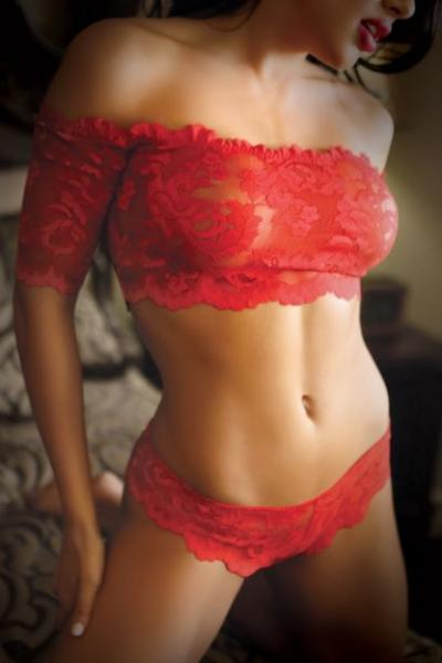 Rose & Thorn Lace Crop Top & Panty