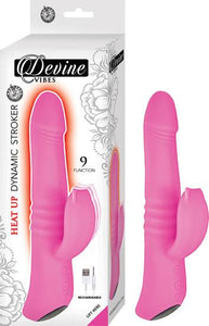 Devine Vibes Heat Up Dynamic Stroker Pink Vibrator