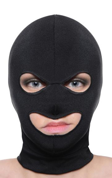Facade Spandex Hood With Eyes And Mouth Holes Black O-S