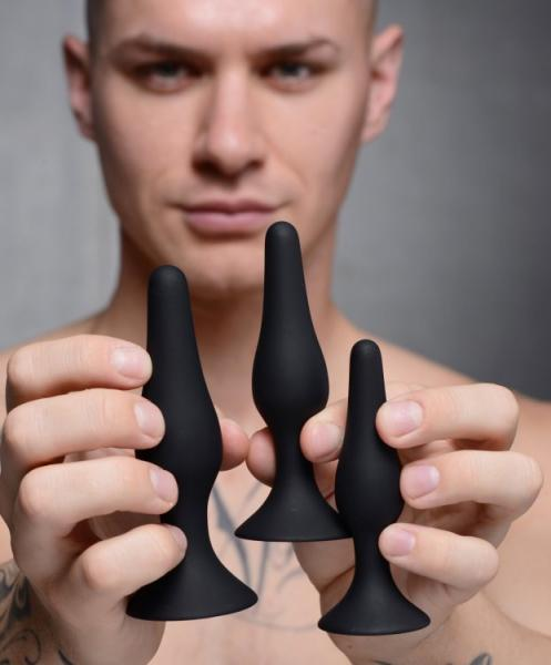 Master Series Triple Spire Tapered Silicone Anal Trainer 3pc Set