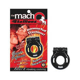 Macho Stallions Cockring Black Vib.