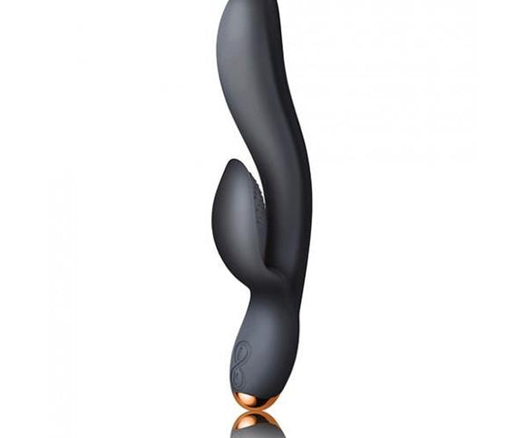 Rocks Off Regala Rabbit Vibrator Black