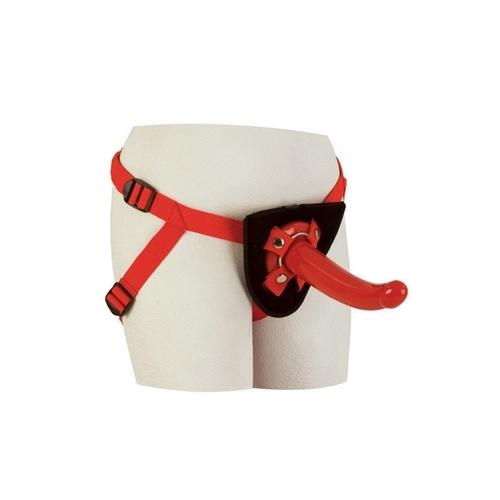 Red Rider Adjustable Strap On With 7 Inch Dong