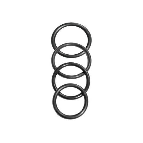 Sportsheets Rubber Rings 4 Pack Black
