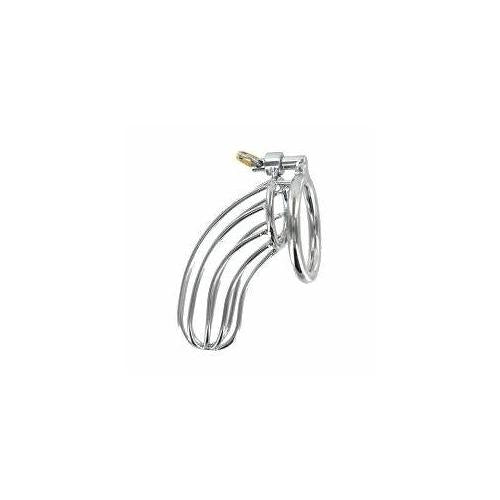 Stainless Steel Chastity Device The Birdcage Silver