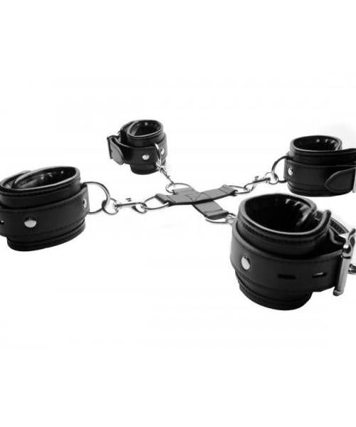 Strict Hog-Tie Restraint System Black Leather