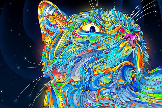 Trippy Psychedelic Cat