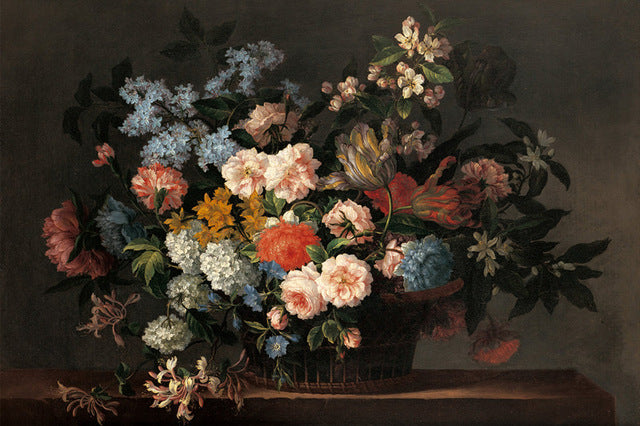Still Life with Basket of Flowers