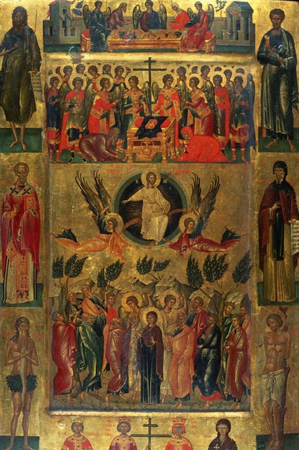 Ascension of Christ with The Hetoimasia