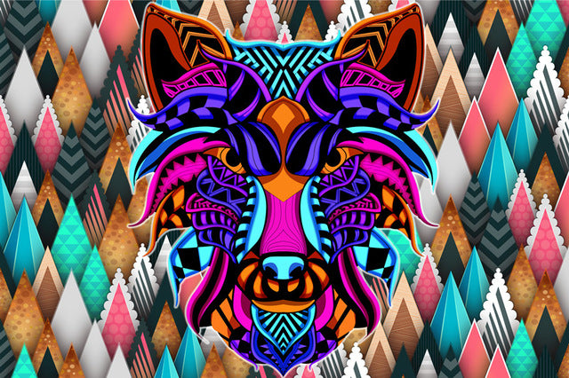 Wolf Head Abstract