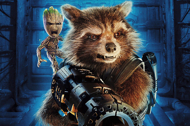 Groot and Rocket Raccoon