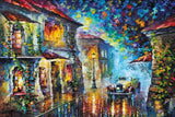 The Streets at Night by Leonid Afremov