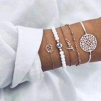 14K Rose Gold Plating Bracelet Set