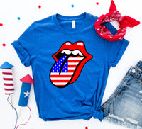 USA Lips 4th of July T-shirt