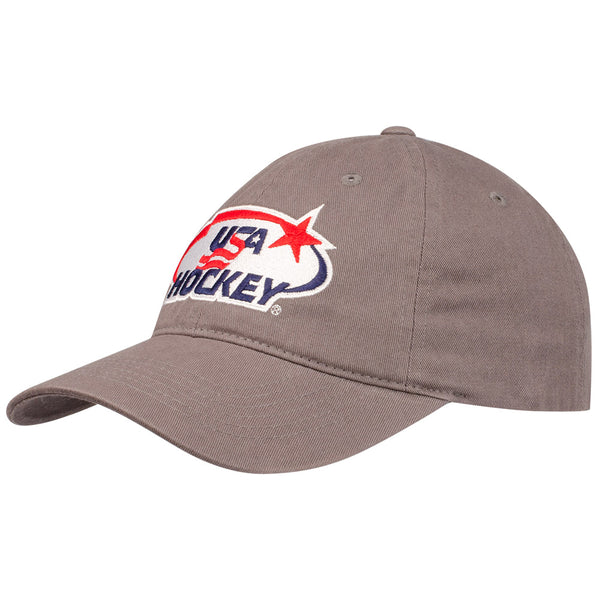 USA Hockey Grey Adjustable Hat