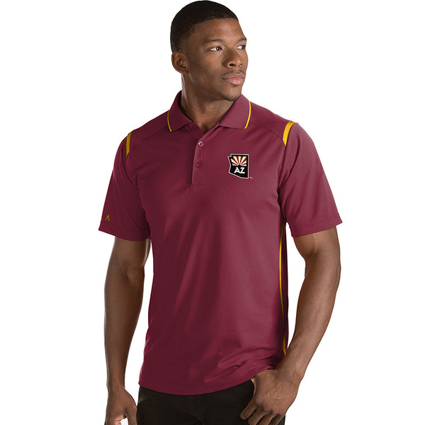 Arizona Coyotes Men's Antigua Merit State Logo Polo