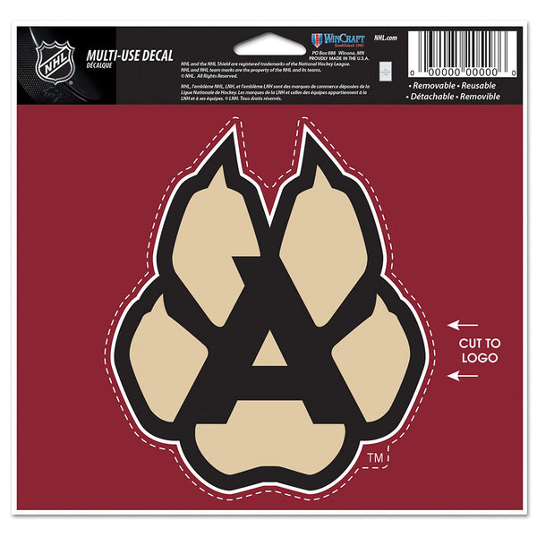 Arizona Coyotes Alternate Logo 4x6 Multi-Use Decal