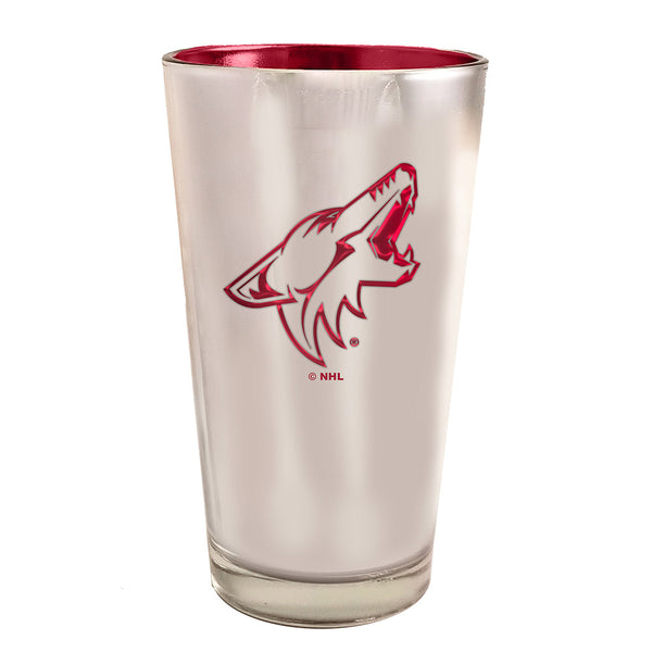 Arizona Coyotes 16 oz. Electroplated Pint Glass
