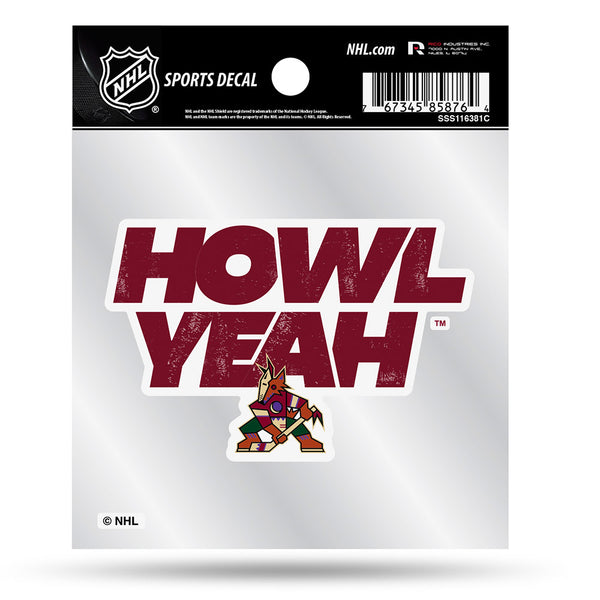 Arizona Coyotes 4X4 Howl Yeah Decal