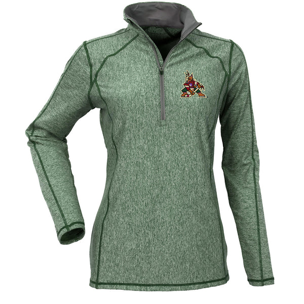 Ladies Antigua Coyotes Tempo 1/4 Zip Pullover