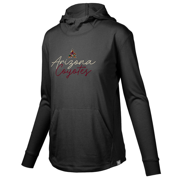 Ladies Levelwear Coyotes Script Performance Hooded Sweatshirt