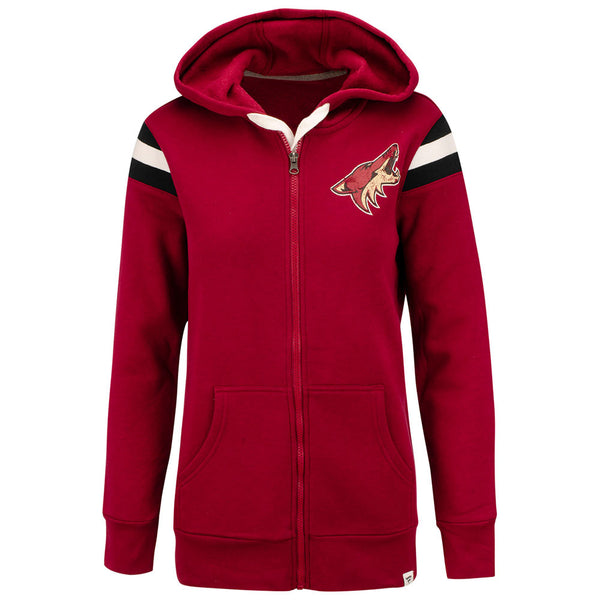 Ladies Fanatics Branded  Arizona Coyotes True Clssic Stripe Full Zip Jacket