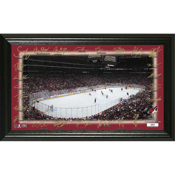 Arizona Coyotes Signature Rink Framed Photo