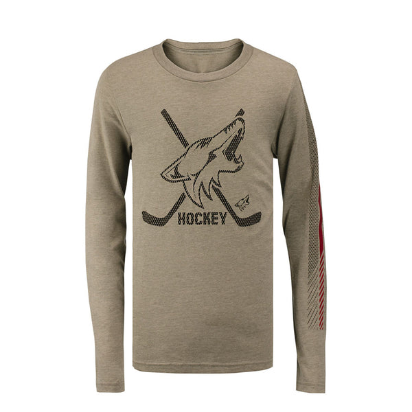 Youth Outerstuff Arizona Coyotes  Binary 2 In 1 Long Sleeve