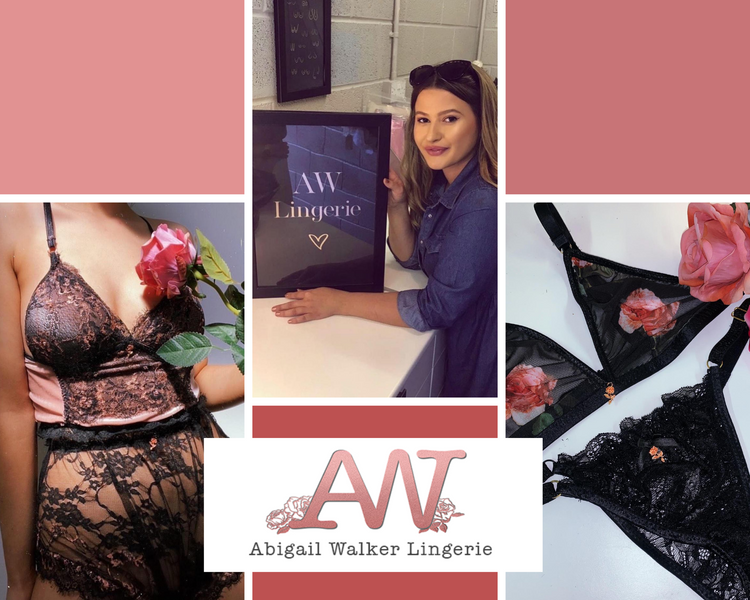 Girl Boss Lingerie Designer and Owner Abigail Walker of @AbigailWalker_Lingerie