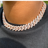 12mm Two Tone Diamond Cuban Link