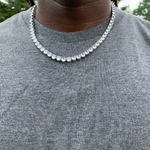 Prong Tennis Chain Necklace | DAR Custom Jewelry