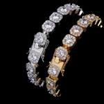 Clustered Tennis Bracelet in White and Gold | Dar Custom Jewelry