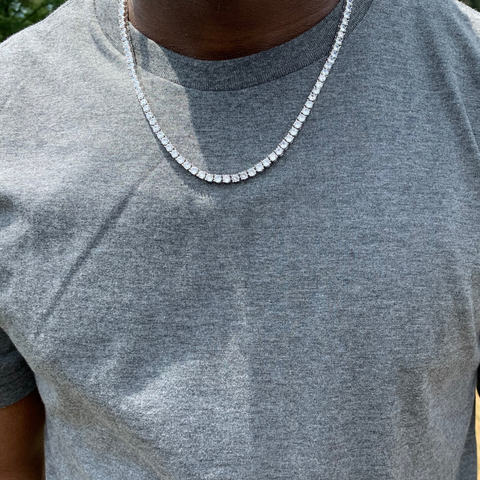 4mm White Gold Tennis Chain