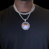 Custom Double Sided Spinning Photo Necklace