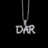 Custom Baguette Letter Necklace - Custom Pendants | DAR Custom Jewelry