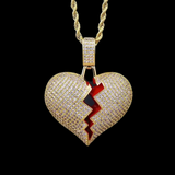 18k Gold Broken Heart Pendant | Dar Custom Jewelry