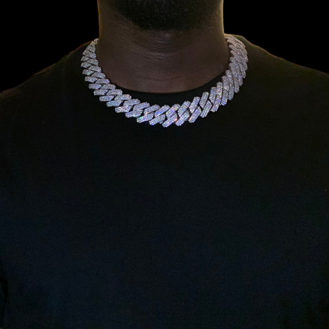 19mm Diamond Prong Cuban Link Choker
