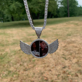 Custom Angel Wings Photo Pendant