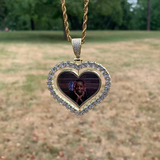 Custom Double Sided Spinning Heart Photo Necklace | Dar Custom Jewelry