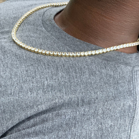 4mm Gold Tennis Chain